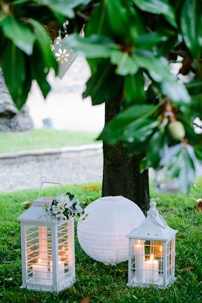 wedding lanterns Destination Wedding in Imperia, Italy