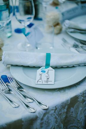 wedding place cards Destination Wedding in Imperia, Italy