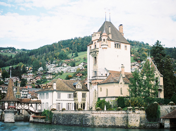 Switzerland Wedding location A Sweet Elopement at a Castle in Switzerland
