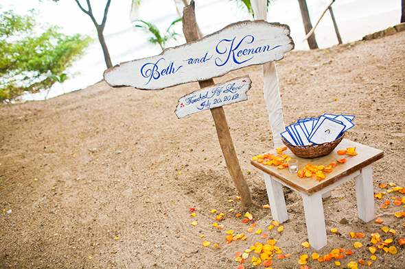 beach wedding signs Costa Rica Destination Wedding by A Brit and A Blonde