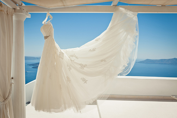 destination wedding dress Swanky Destination Wedding in Greece