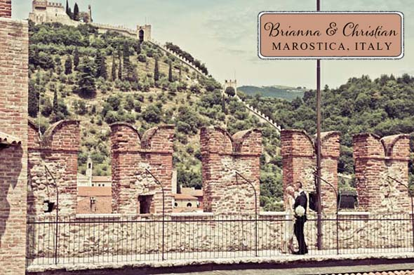 destination wedding in Marostica, Italy