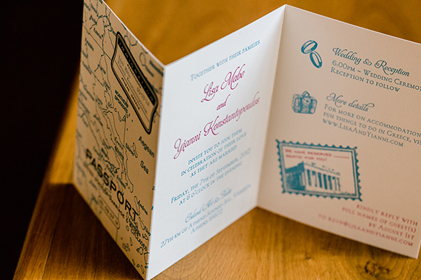 destination wedding invitation Traditional Destination Wedding in Greece