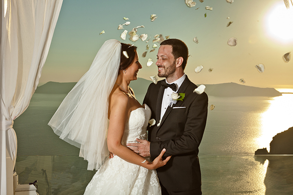 greek wedding ceremony Swanky Destination Wedding in Greece