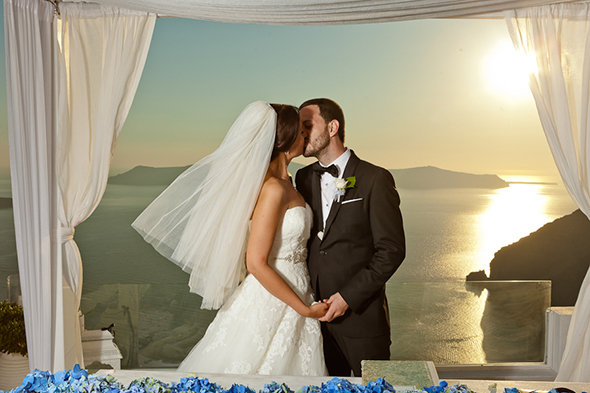 greek wedding Swanky Destination Wedding in Greece