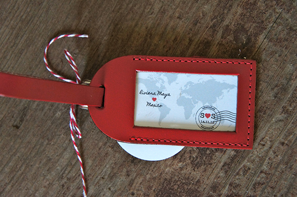 ... from an array of options, including custom leather luggage tags too