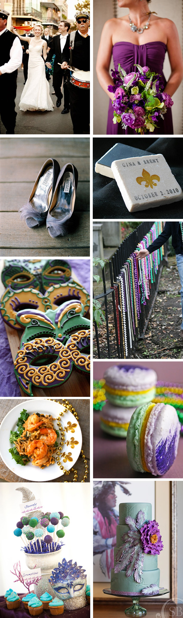 mardi gras wedding ideas Mardi Gras Themed Weddings