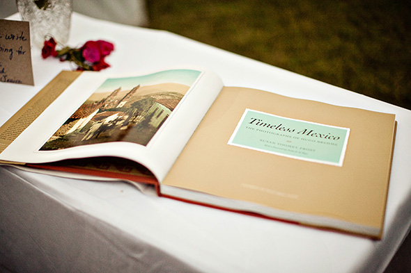 mexico wedding guest book