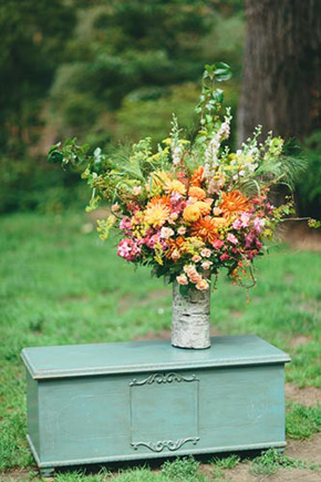 orange wedding details A Golden Gate Park, San Francisco Wedding