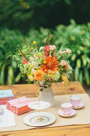orange weddings A Golden Gate Park, San Francisco Wedding