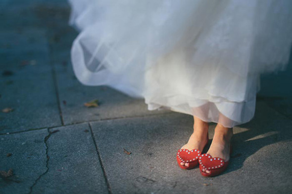 red wedding shoes A Golden Gate Park, San Francisco Wedding