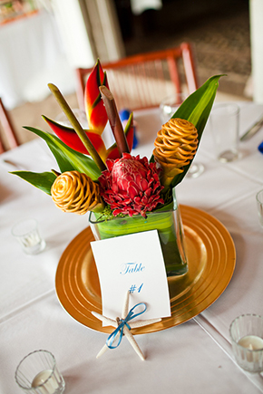tropical wedding flowers Costa Rica Destination Wedding by A Brit and A Blonde