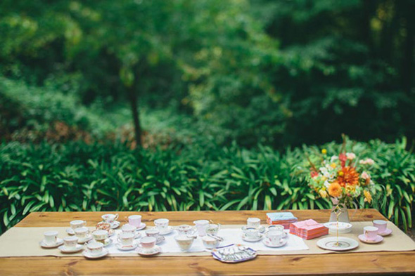 vintage tea cup wedding A Golden Gate Park, San Francisco Wedding