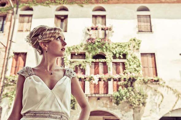 vintage wedding dress A Vintage Inspired Destination Wedding in Italy