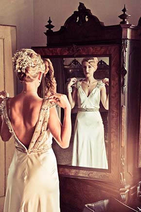 vintage wedding hair and makeup A Vintage Inspired Destination Wedding in Italy