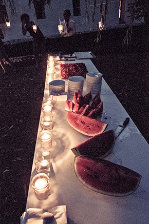 watermelon wedding menu