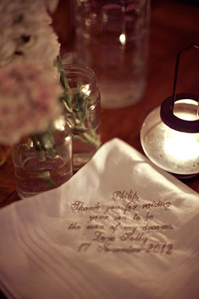 wedding hankie