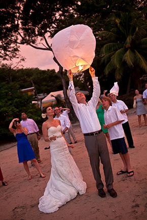 wedding lantern Costa Rica Destination Wedding by A Brit and A Blonde