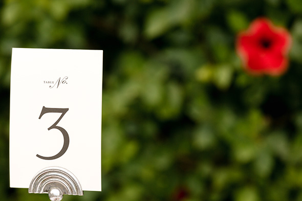 wedding table numbers Traditional Destination Wedding in Greece