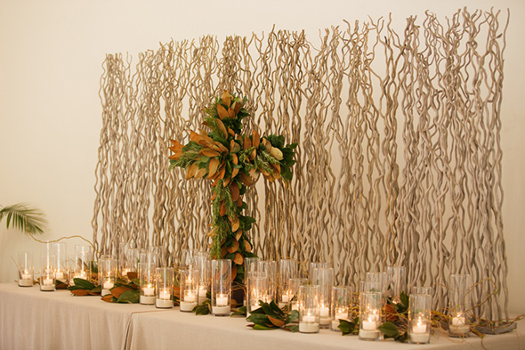 alter ceremony decor A Modern Rosemary Beach, Florida Destination Wedding