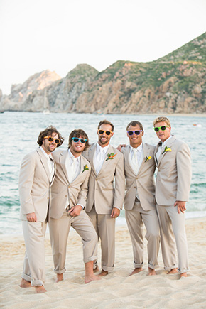 beach wedding suit A Cabo, Mexico Destination Wedding by the Beach
