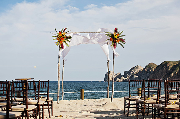 beach wedding A Cabo, Mexico Destination Wedding by the Beach
