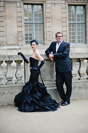 black wedding dresses Paris Wedding Vow Renewal