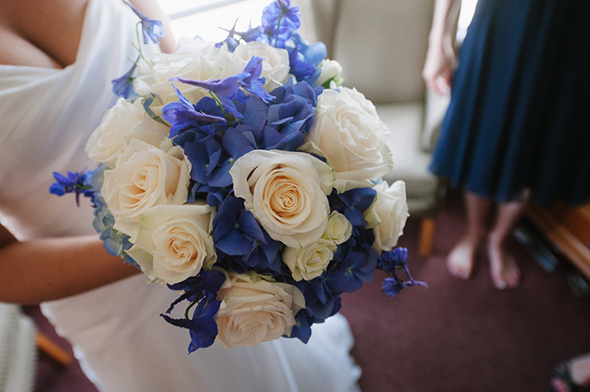blue and white weddings Travel Themed Destination Wedding in Maine