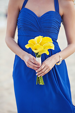 blue and yellow wedding A Cabo, Mexico Destination Wedding by the Beach