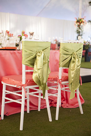 chair ties for weddings Tented Destination I Do in Florida