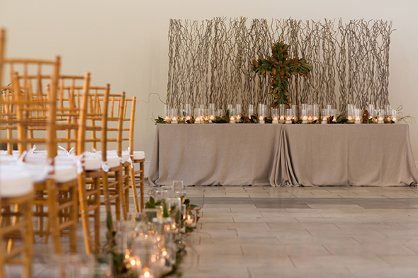 cross ceremony wedding decor A Modern Rosemary Beach, Florida Destination Wedding