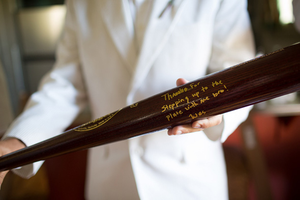 custom baseball bat wedding gifts A Modern Rosemary Beach, Florida Destination Wedding