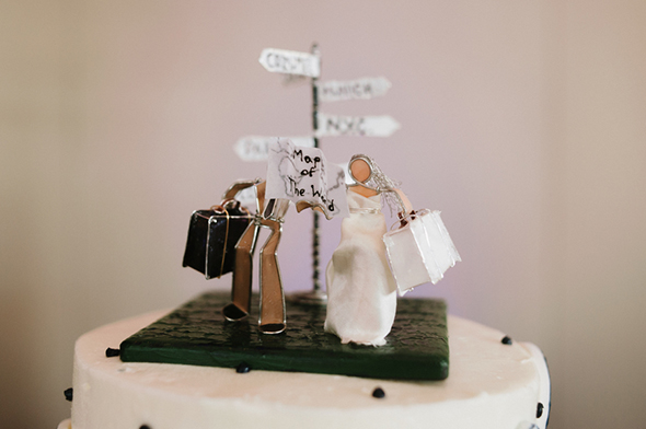 destination wedding cakes Travel Themed Destination Wedding in Maine