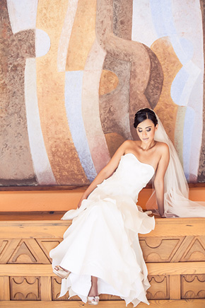destination wedding dress1 A Colorful Destination Wedding in Los Cabos, Mexico
