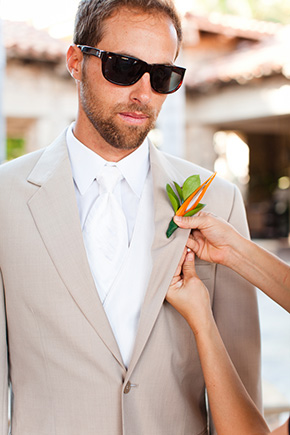 destination wedding groom's suit