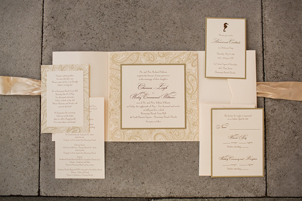 destination wedding invitation1 A Modern Rosemary Beach, Florida Destination Wedding