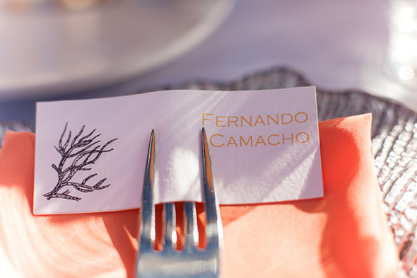 destination wedding place card A Colorful Destination Wedding in Los Cabos, Mexico