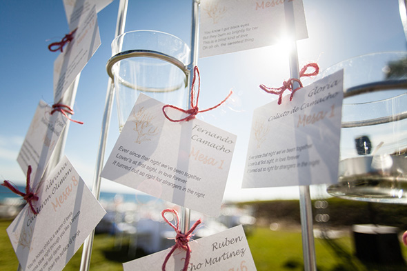 destination wedding place cards A Colorful Destination Wedding in Los Cabos, Mexico