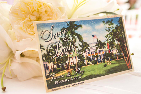 destination wedding save the dates Tented Destination I Do in Florida