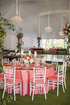 destination wedding tent