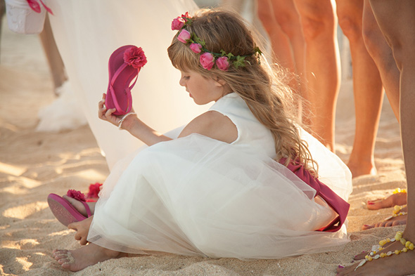 flower girl dress A Cabo, Mexico Destination Wedding by the Beach