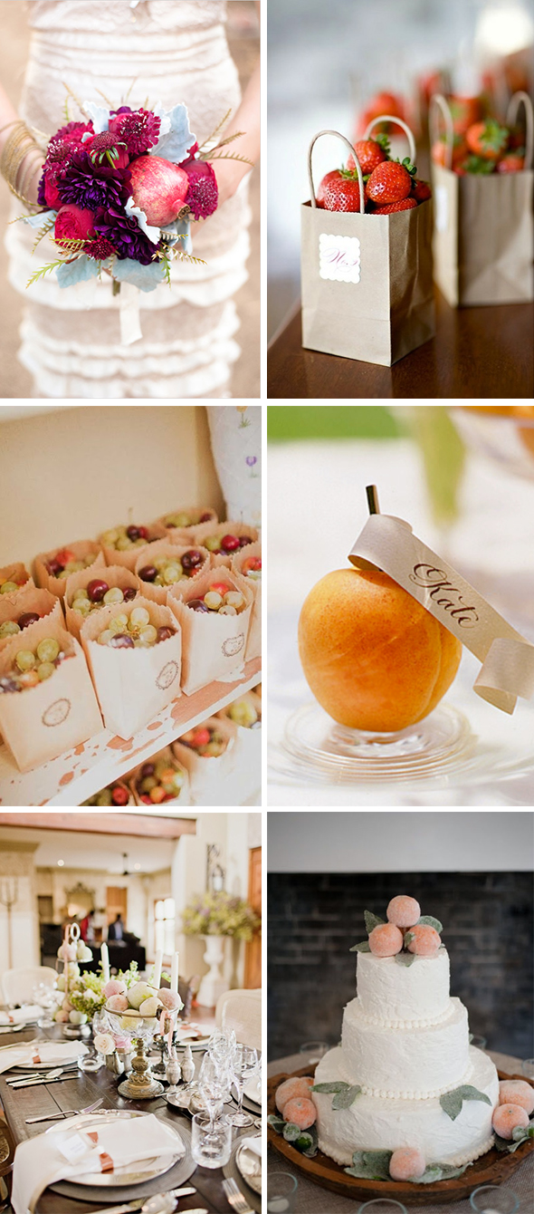 fruit wedding details