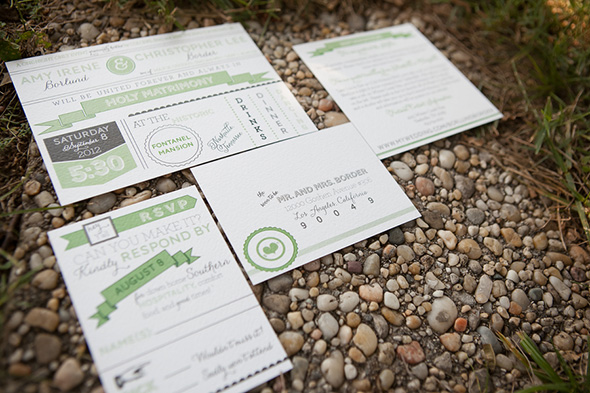 green wedding invitations A Rustic Destination Wedding in Nashville, TN