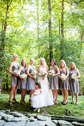 grey bridesmaid dress A Rustic Destination Wedding in Nashville, TN