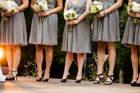 grey bridesmaid dresses A Rustic Destination Wedding in Nashville, TN