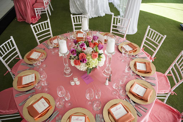 hot pink weddings Tented Destination I Do in Florida