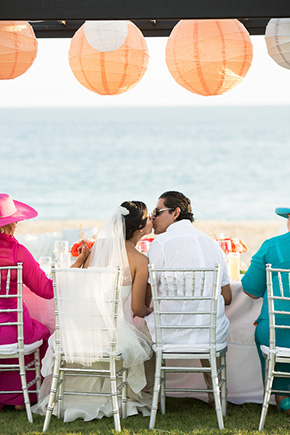 lantern wedding A Colorful Destination Wedding in Los Cabos, Mexico