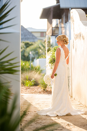 low back wedding dress A Modern Rosemary Beach, Florida Destination Wedding
