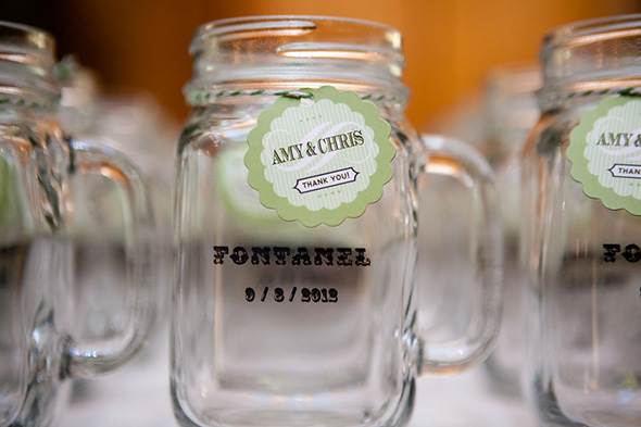 mason jar favors A Rustic Destination Wedding in Nashville, TN