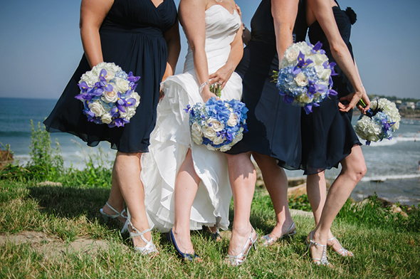 navy blue weddings Travel Themed Destination Wedding in Maine